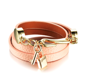 BRACELET DOUBLE WRAP PEACH